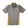 Men's Color Block Polo Gray/Yellow