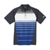 Unisex Royal Blue/Grey/White Sublimated Stripe Sport Shirt