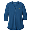 Ladies' Ocean Blue Henley