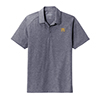 Men's Tri-Blend Heather Polo Navy
