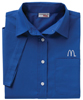 Ladies' Royal Blue Short Sleeve Soft Touch Poplin