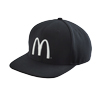McDonald's Black Flat Bill Cap