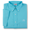 Men's Turquoise Short Sleeve Soft Touch Poplin