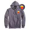 Chenille Fry Patch Zip Up Hoodie
