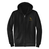 Black Hooded Full Zip Sweatshirt