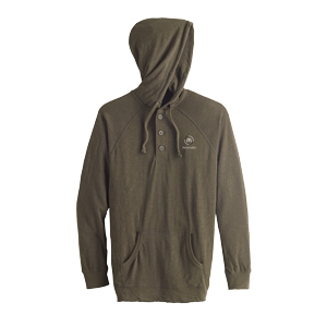 Brown Hooded Heather Henley