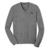 Men's Grey V-Neck Sweater