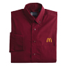 Men's Long Sleeve Dress Shirt Burgundy