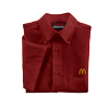 Men's Burgundy Short Sleeve Soft Touch Poplin