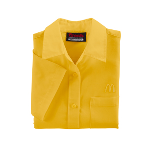 Ladies' Short Sleeve McDonald's Gold Poplin