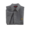 Men's Short Sleeve Steel Grey Poplin