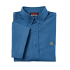 Men's Short Sleeve Ocean Blue Poplin