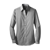 Ladies' Fine Stripe Stretch Poplin Shirt