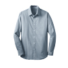 Men's Blue/White Fine Stripe Stretch Poplin Shirt