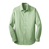 Men's Green/White Fine Stripe Stretch Poplin Shirt