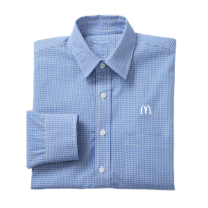 French Blue Gingham Check L/S