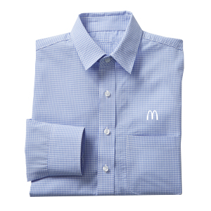 Men's Light Blue Gingham Check L/S