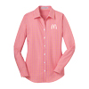L. L/S Pink/Orange Gingham Shirt
