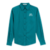 L. L/S Teal Green Easy Care Shirt