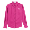 Ladies Tropical Pink L/S  Easy Care Shirt