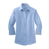 Ladies' 3/4 Sleeve Dress Shirt Light Blue