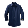 Ladies' 3/4 Sleeve Dress Shirt Navy