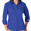 L. 3/4 Sleeve Royal Blue Twill Shirt
