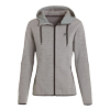 Grey Ladies' Hooded Sweater Knit Fleece