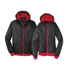 Men's Black/Red Hooded Wind Jacket
