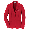 Ladies' Red Knit Blazer