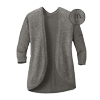 Ladies' Grey Marled Cocoon Sweater