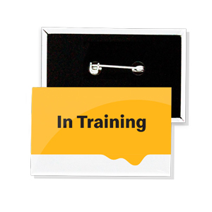 In Training Crew Button (pack of 10)