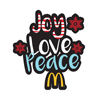 Joy, Love, Peace, Arch Lapel Pin