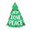 Joy, Love, Peace Tree Lapel Pin