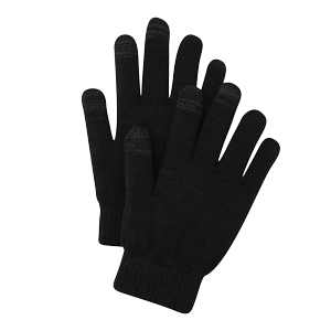 Black Touchscreen-Friendly Gloves