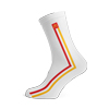 White Vertical Stripe Dress Sock