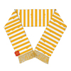 Melty Cheese Stripe Scarf with Fringe