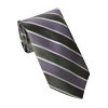 Men's Gray - Purple Striped
