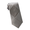 Men's Grey-Black Houndstooth Print Tie