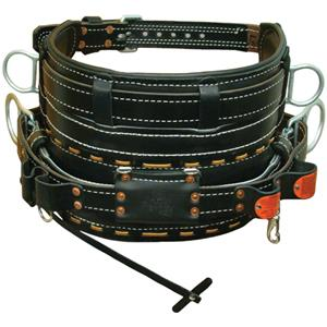 Buckingham 4 D-ring Leather Backsaver Belt- 2107M