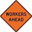 "48"" Non Reflective Mesh Sign- Workers Ahead"