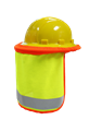 ML Kishigo FR Wide Brim Hard Hat Sun Shield- Lime Mesh- FM2804