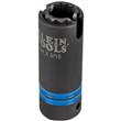 Klein Tools 3-in-1 Slotted Impact Socket, 12-Point, 3/4 and 9/16-Inch- 66031