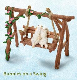 Bunnies on a Swing
