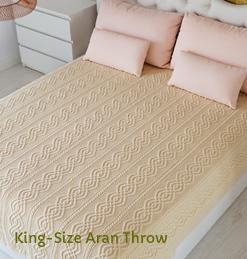 King-Size Aran Throw