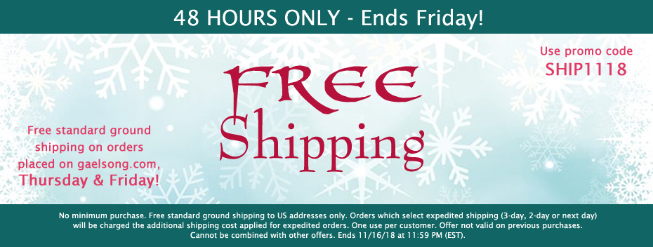 FREE Shipping - 48 Hours Only - No Minimum
