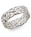 Silver Trinity Knot Band