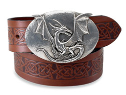 Belts & Buckles - Dragon Buckle & Belt :  dragon celtic belt
