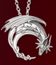 Crescent Dragon Pendant