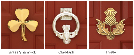 Celtic Doorknockers Failte! Welcome Your Guests With A Symbol Of The Celtic  Lands. Claddagh Or Thistle Doorknocker Announces Visitors While Proclaiming  Your ...